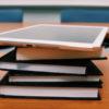 iPad on books