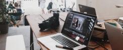 worker's laptop