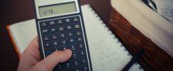calculator, book